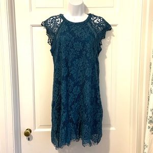 Altair's States Teal Blue Lace Dress